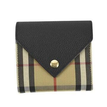 ◆新品本物◆バーバリー LILA EV 3つ折財布(BK)『8026114』◆