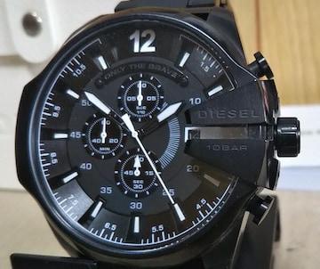 DIESEL DZ-4283 メガチーフ アナログ 腕時計 メンズ ブラック