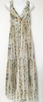 DOUBLESTANDARDCLOTHINGアースカラーヒョウマキシワンピドレス