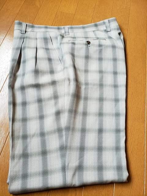 ☆新品同様☆ジャンセン☆夏生地スラックス☆ゴルフ☆w91 < 男性ファッションの