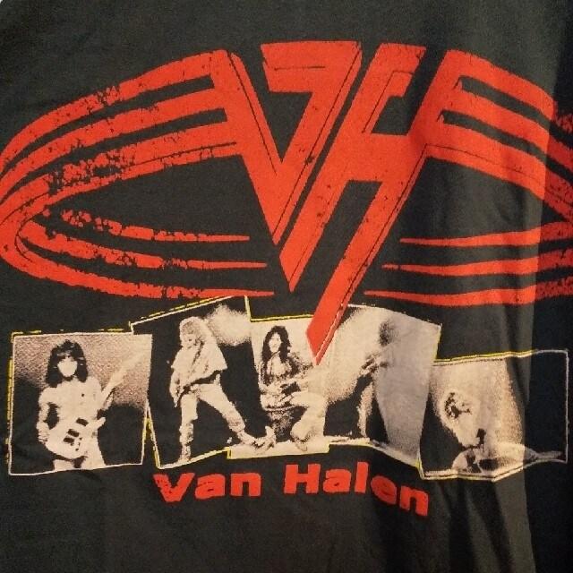 ロックT/バンドT ヴァンヘイレン Van Halen ラグラン7分袖 未使用 L  < 男性ファッションの