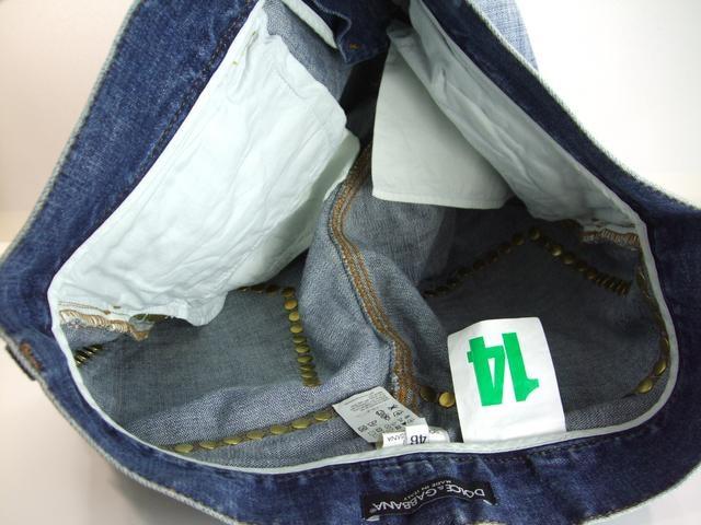 美品ドルガバスタッズデニムジーンズ46 メンズ ダメージ加工 < ブランドの