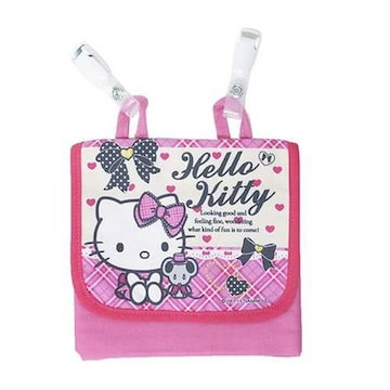 【キティ】可愛い♪ハンカチ.携帯スマホ.コスメ.小物入 ポーチ クリップ付ポケット