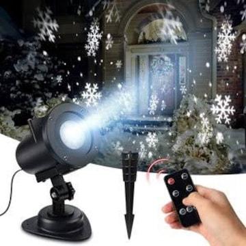 令和元年版 クリスマス プロジェクターライト 雪の結晶 雪嵐 LED
