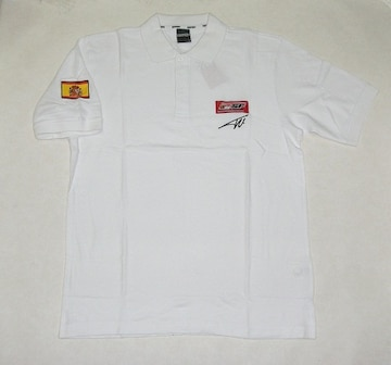 1セール! フェラーリ ロゴ  白ポロシャツ XL  f133