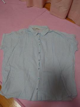ふんわりストライプシャツ サイズL