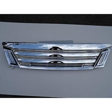 日産 LEDデイライト オールクロームメッキ マークレスグリル キャラバン E26 NV350