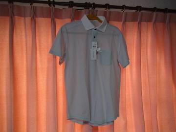 STIGLERのポロシャツ(L)薄いブルー新品タグ付き!。