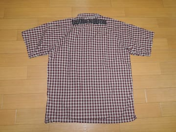 GOOD ENOUGH グッドイナフ 背ロゴ 半袖 チェックシャツ M