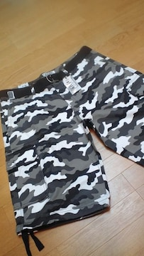 LA直輸入!PROCLUB 迷彩カーゴハーフパンツシティカモ サイズW50→W52位 130