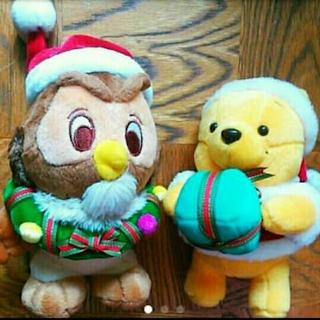 新品 プーさん オウル サンタ ぬいぐるみ セット クリスマス
