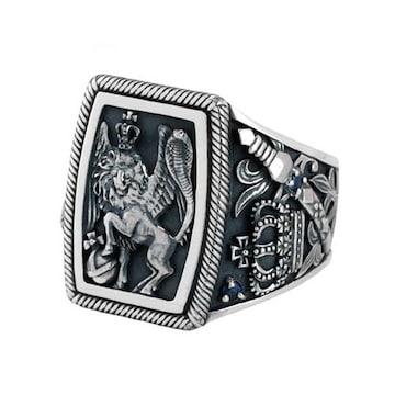 新品◆JUSTIN DAVIS◆REGAL CHAMBER RING◆11号◆定価75,900円◆