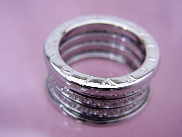 ブルガリ K18WG ビーゼロワン ダイヤモンドリング 50 新品仕上げ済★dot < ブランドの