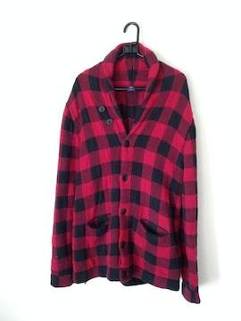 GAP 男女兼用◆レッド チェック ロング ジャケット コート