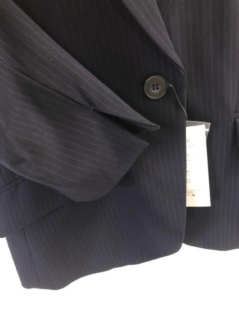 新品☆L防しわUV ストレッチスカートスーツ 紺系☆d216 < 女性ファッションの