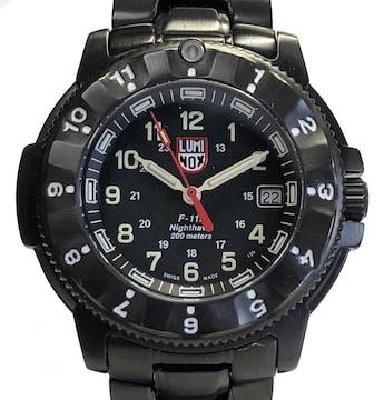 ルミノックス腕時計ナイトホークNIGHTHAWK 3400-200 F-117メタル