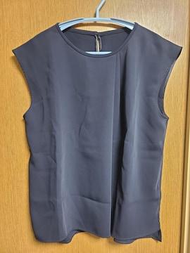 ロペROPE昨季新品ネイビーノースリーブラウスカットソーシャツ大きいサイズEX-213号
