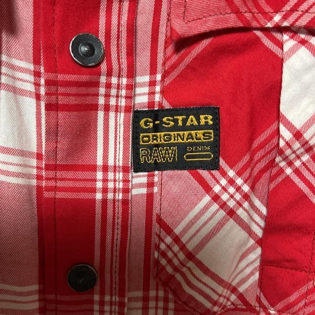 【G-STAR RAW/ジースターロゥ】チェック柄 半袖シャツ(sizeM) < ブランドの