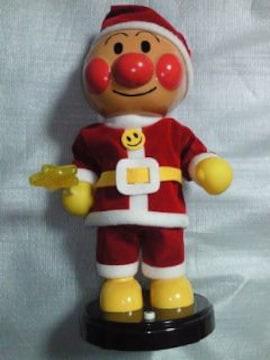 アンパンマン クリスマス サンタクロース コスプレ ソング ダンシング 人形 フィギュア