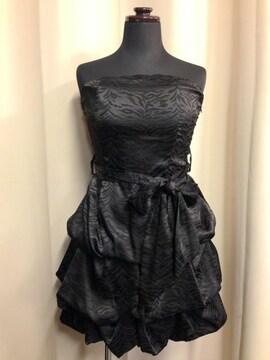 新品☆ゼブラ柄ドレス☆フォーマル☆結婚式☆キャバミニドレス