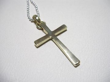 仁尾彫金『真鍮クロス』ハンドメイドb