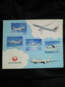 JAL 日本航空 飛行機 旅客機 プリント シール 機内