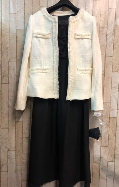 新品☆7号♪ベージュ系フォーマルアンサンブルスーツ☆n914  < 女性ファッションの