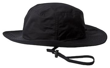 ハット 帽子 撥水 あご紐 オールブラック