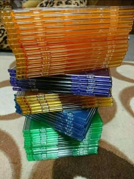 CD,DVDカラーケース50枚セット