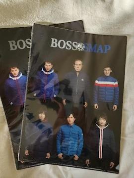 BOSS×SMAP クリアファイル2枚