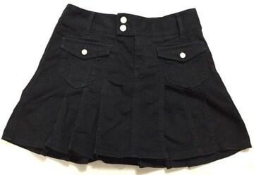 バービー☆黒デニムプリーツミニスカート