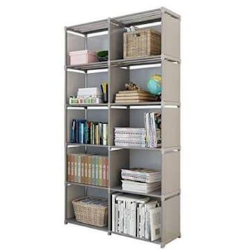 二列五段 Rerii 本棚 書棚 五段 大容量 カラーボックス ブックラ