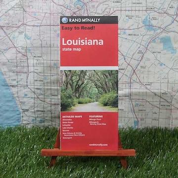 新品【輸入地図】Louisiana/ルイジアナ州 State Map