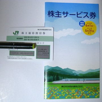 JR東日本 株主優待割引券 株主サービス券