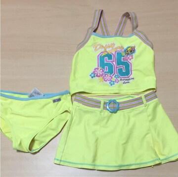 B2008 スポーツウェア/DaisyLovers/lemon yellow swim wear