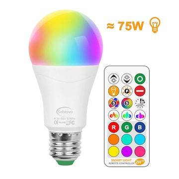 LED電球 リモコン操作 広配光タイプ E26/E27口金 75W