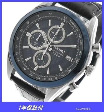 新品即買■セイコー 腕時計 SSB177P2 クロノ ネイビー//00030181