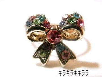 《New》ageha掲載★エタニティリボン・リング/指輪<レインボー>【箱付】