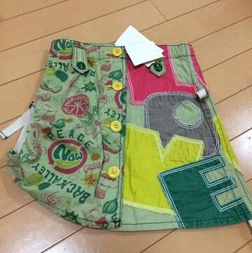 新品◆ブーフーウー,バックアレイ◆お洒落ミニスカート◆130