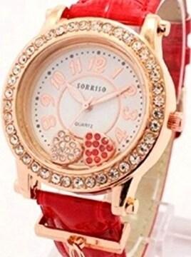 プレゼント 腕時計 レッド