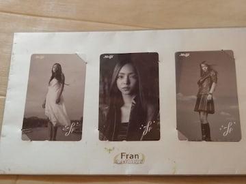 非売品レア安室奈美恵テレホンカードテレカ3枚セット