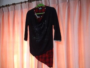 Beaumereのトリプルシャツ(L)赤と黒!。
