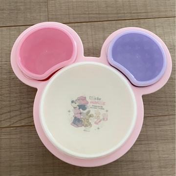 美品離乳食始まったベビからの食器ディズニーミニー日本製