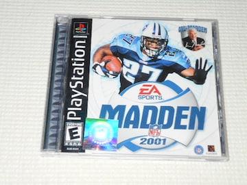 PS★MADDEN NFL 2001 海外版★箱付・説明書付・ソフト付