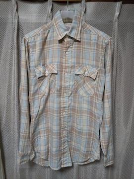古着 ヴィンテージ リーバイス 長袖シャツ Sサイズ used  チェック柄 青×茶 USA製