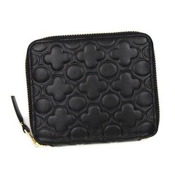 ◆新品本物◆コムデギャルソン EMBOSS 2つ折財布(BK)『SA210EB』◆
