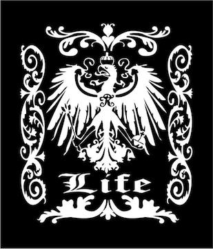 ∇LIFE・ライフ∇紋章オリジナルステッカー☆かっこいいシール☆
