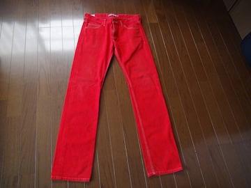 ラコステの赤のジーパン(79)日本製!。