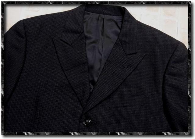 メンズビギ ウールジャケット チャコール < ブランドの
