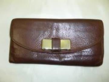鑑定済み本物クロエ長財布■人気商品■茶色